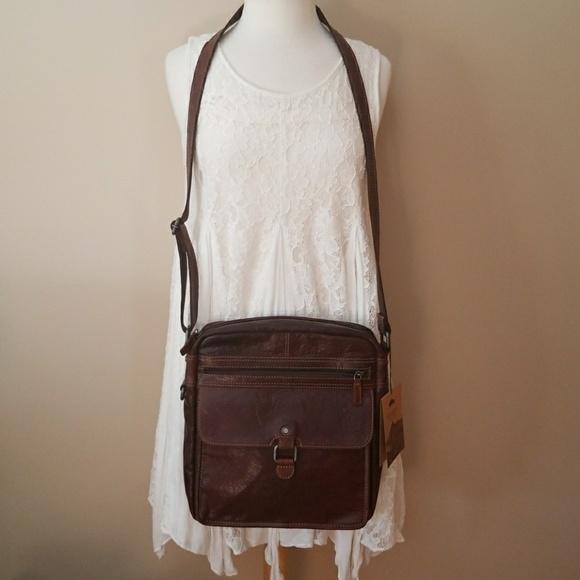 40961c1e2eb Jack Georges Leather Voyager Crossbody Bag